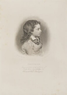 Unknown boy engraved as Thomas Chatterton, by Richard Woodman, after  Nathan Cooper Branwhite - NPG D14546