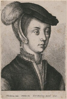 Unknown woman, by Wenceslaus Hollar, after  Hans Holbein the Younger - NPG D18025