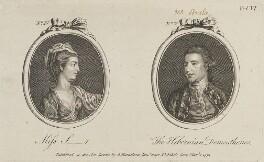 'Miss S-r and The Hibernian Demosthenes' (Edmund Burke), published by Archibald Hamilton Jr - NPG D14552