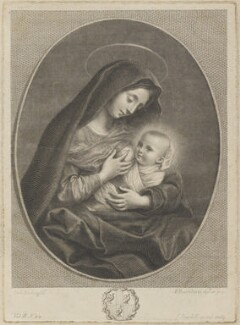 'Virgin and child', by Francesco Bartolozzi, published by  John Boydell, after  Carlo Dolci - NPG D14561