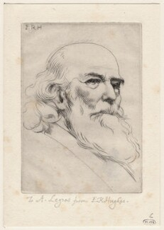 Alphonse Legros, by Edward Robert Hughes - NPG D18057