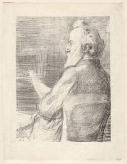 Alphonse Legros, by William Rothenstein - NPG D18058