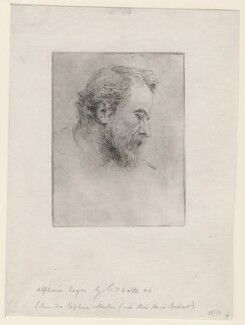 Alphonse Legros, by George Frederic Watts, circa 1879 - NPG D18059 - © National Portrait Gallery, London