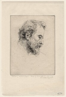 Alphonse Legros, by George Frederic Watts - NPG D18060