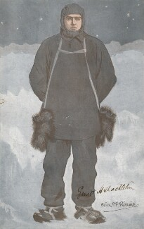 Sir Ernest Henry Shackleton, by Alexander ('Alick') Penrose Forbes Ritchie - NPG D18064