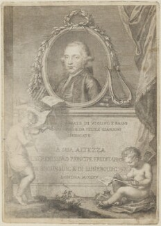 Felice Giardini, by Francesco Bartolozzi, after  Giovanni Battista Cipriani - NPG D14564