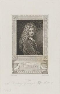 William Congreve, by Peltro William Tomkins, published by  John Sharpe, after  Sir Godfrey Kneller, Bt - NPG D14565