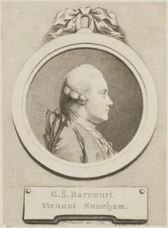 George Simon Harcourt, 2nd Earl Harcourt, by D.P. Pariset, published by and after  Pierre-Étienne Falconet - NPG D14578