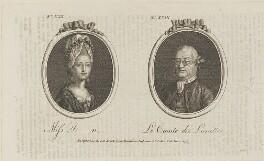 'Miss D-n and Le Comte des Lunettes' (Miss Dawson), published by Archibald Hamilton Jr - NPG D14587