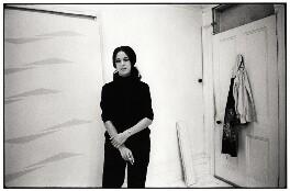 Tess Jaray, by Geoff Howard, January 1969 - NPG x126103 - © Geoff Howard / National Portrait Gallery, London