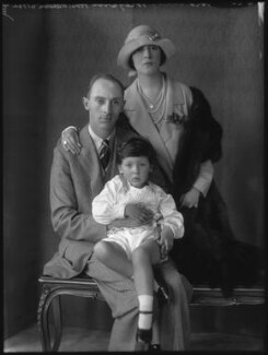 Gerald Henry Foley, 7th Baron Foley; Adrian Gerald Foley, 8th Baron Foley; Minoru Foley (née Greenstone), Lady Foley, by Bassano Ltd - NPG x36567