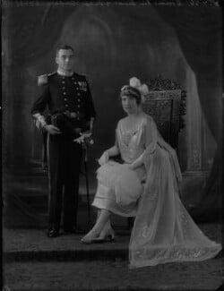 Sir Lionel Arthur Doveton Sturdee, 2nd Bt; Dorothy Mary Mowbray (née Sayer), Lady Sturdee, by Bassano Ltd - NPG x34988