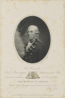 Samuel Barrington, by Joseph Collyer the Younger, published by and after  Philip Jean - NPG D14604