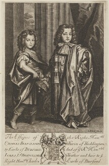 Charles Beauclerk, 1st Duke of St Albans; James Beauclerk, by Robert White - NPG D14616