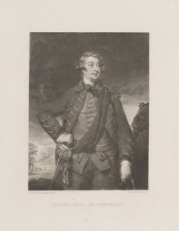 Henry Herbert, 10th Earl of Pembroke, by and published by Samuel William Reynolds, after  Sir Joshua Reynolds - NPG D14618