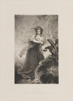 Sophia Musters (née Heywood), by Samuel William Reynolds, published by  Hodgson & Graves, after  Sir Joshua Reynolds - NPG D14619