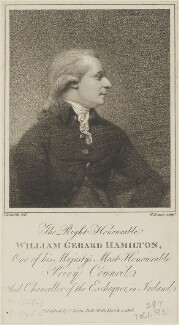 William Gerard Hamilton, by William Evans, published by  Thomas Payne the Younger, after  John Raphael Smith - NPG D14629