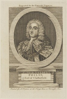 Philip Dormer Stanhope, 4th Earl of Chesterfield, published by John Hinton, after  William Hoare - NPG D14630