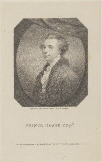 Prince Hoare, by William Ridley, published by  Thomas Bellamy, after  James Northcote - NPG D14642