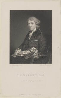 Thomas Sedgwick Whalley, by Joseph Brown, published by  Richard Bentley, after  Sir Joshua Reynolds - NPG D14652