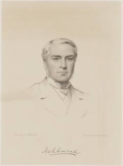 Edward Gibson, 1st Baron Ashbourne, by Joseph Brown, after  Henry Tanworth Wells, 1886 - NPG D18070 - © National Portrait Gallery, London