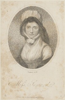 Anna Seward, by John Chapman, published by  Vernor & Hood - NPG D14659