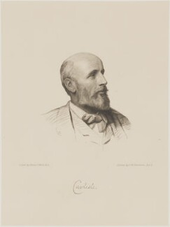 George James Howard, 9th Earl of Carlisle, by Charles William Sherborn, after  Henry Tanworth Wells - NPG D18071