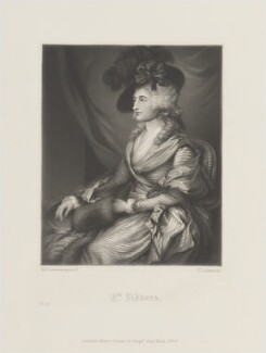Sarah Siddons (née Kemble), by Thomas Lewis Atkinson, published by  Henry Graves, after  Thomas Gainsborough - NPG D14661