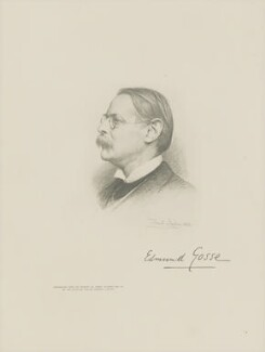 Sir Edmund William Gosse, by The Autotype Company, after  Sir Francis Bernard ('Frank') Dicksee, (1912) - NPG D18072 - © National Portrait Gallery, London