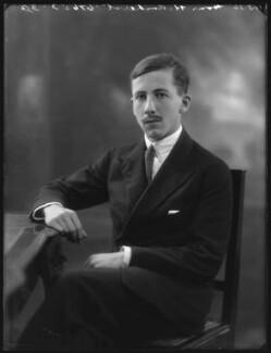 Hon. Humphrey William Amherst, by Bassano Ltd, 19 August 1926 - NPG x36627 - © National Portrait Gallery, London