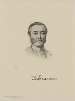 Thomas Henry Sanderson, 1st Baron Sanderson, by The Autotype Company, after  Henry Tanworth Wells - NPG D18077