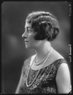 Nesta Violet (née Wright), Lady Goulding (later Mrs Adams), by Bassano Ltd - NPG x36581