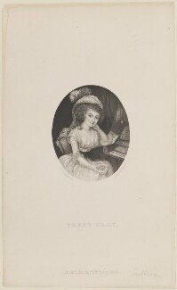 Frances Sage, by Joseph Brown, published by  Richard Bentley, after  Richard Cosway - NPG D14668