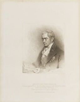 George John Spencer, 2nd Earl Spencer, by Henry Meyer, published by  T. Cadell & W. Davies, after  John Wright, after  John Hoppner - NPG D14670