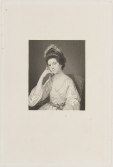 Mrs Sage (née Whalley), by Joseph Brown, published by  Richard Bentley, after  George Romney - NPG D14672
