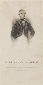 Sir Charles Brisbane, by William Greatbach, published by  Richard Bentley, after  James Northcote - NPG D14675