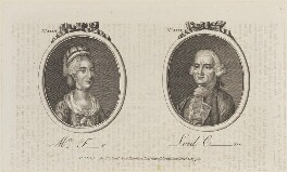 'Mrs F-r and Lord C-m' (Lord Conyngham; Mrs Farrer), published by Archibald Hamilton Jr - NPG D14677