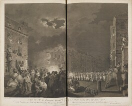 'The riot in Broad Street on the seventh of June 1780', by James Heath, published by  John Boydell, and published by  Josiah Boydell, after  Francis Wheatley - NPG D14680