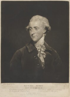 Richard Burke, by and published by James Ward, after  Sir Joshua Reynolds - NPG D14690