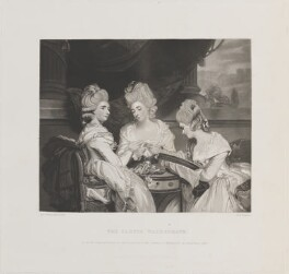 'The Ladies Waldegrave', by Robert Bowyer Parkes, published by  Henry Graves, after  Sir Joshua Reynolds - NPG D14695