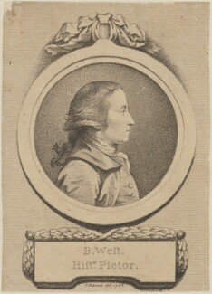 Benjamin West, by D.P. Pariset, published by and after  Pierre-Étienne Falconet - NPG D14700