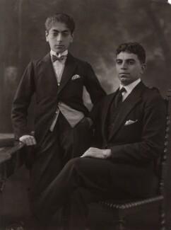 Prince Mozaffar; Prince Sultan Mahmond Mirzaadjar, by Bassano Ltd, 3 August 1922 - NPG  - © National Portrait Gallery, London