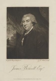 James Boswell, by G.W. Hutin, published by  Abraham Wivell, after  Sir Joshua Reynolds - NPG D14716