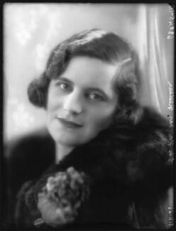 Hon. Magdalen Blanche Simpson-Pedler (née Curzon), by Bassano Ltd - NPG x36599