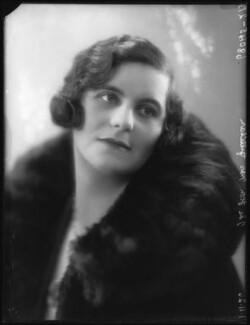 Hon. Magdalen Blanche Simpson-Pedler (née Curzon), by Bassano Ltd - NPG x36600
