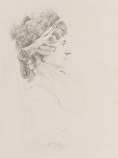 Hester Lynch Piozzi (née Salusbury, later Mrs Thrale), by William Daniell, after  George Dance - NPG D14717