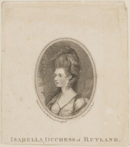 Mary Isabella Manners (née Somerset), Duchess of Rutland, by Richard Read, after  Matthew William Peters - NPG D14718