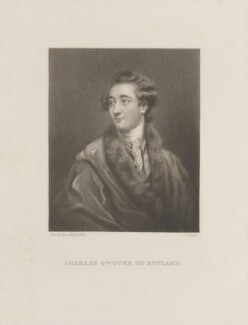 Charles Manners, 4th Duke of Rutland, by James Scott, after  Sir Joshua Reynolds - NPG D14719
