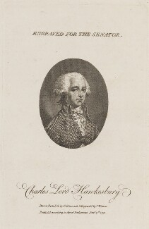 Charles Jenkinson, 1st Earl of Liverpool, by Charles Warren, after  Charles Benazech - NPG D14723