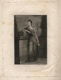Catharine Macaulay (née Sawbridge), by James Caldwall, after  Robert Edge Pine, (circa 1775) - NPG D18086 - © National Portrait Gallery, London